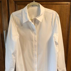 Alexander Wang zipper down classic white blouse